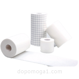 Medical plaster on non-woven basis in roll (wide)