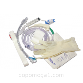 Tracheal tube kit with laryngoscope
