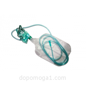 Oxygen mask with bag