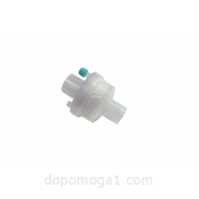 Disposable electrostatic bacterial/viral filter with HME, Co2 port